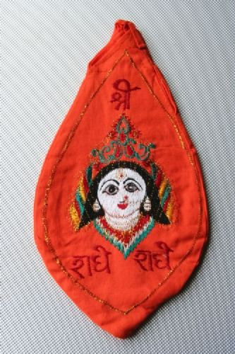 Jay Radha Picture Japa Bead Bag (Embroidered)..